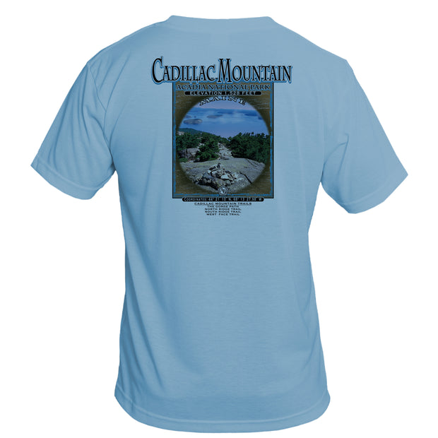 Retro Interpretive Cadillac Mountain Basic Performance T-Shirt