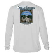 Retro Interpretive Cadillac Mountain Microfiber Long Sleeve T-Shirt