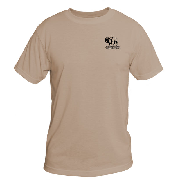 Retro Interpretive Custer State Park Basic Performance T-Shirt