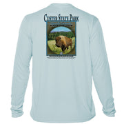 Retro Interpretive Custer State Park Microfiber Long Sleeve T-Shirt