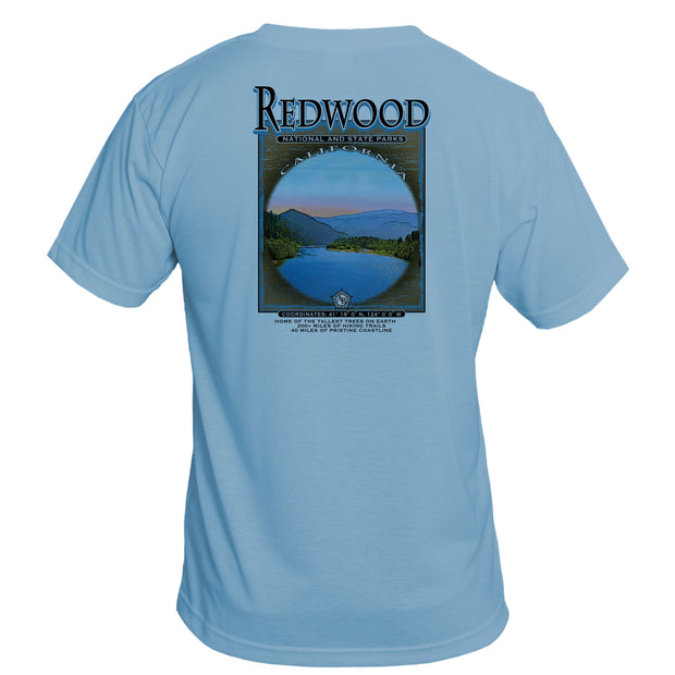Retro Interpretive Redwood National and State Parks Basic Performance T-Shirt