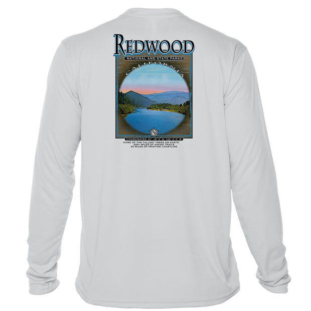 Retro Interpretive Redwood National and State Parks Microfiber Long Sleeve T-Shirt
