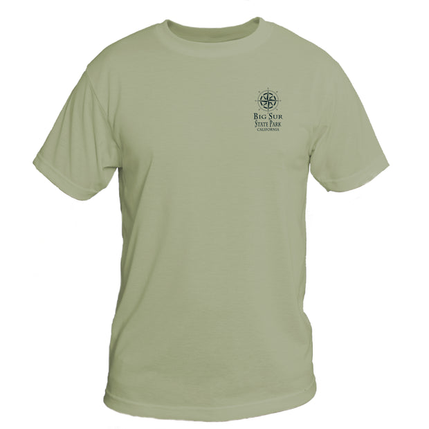 Retro Interpretive Big Sur State Park Basic Performance T-Shirt