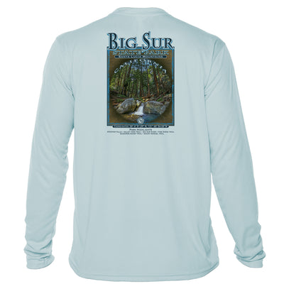 Retro Interpretive Big Sur State Park Microfiber Long Sleeve T-Shirt