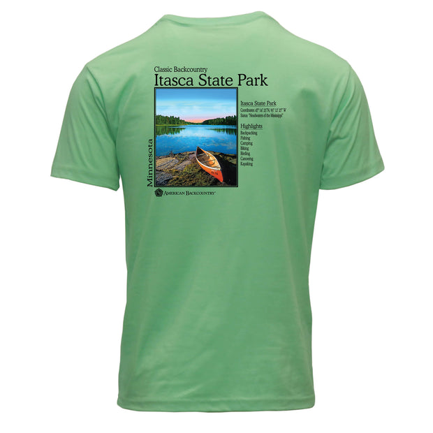 Itasca State Park Classic Backcountry Repreve Crew T-Shirt