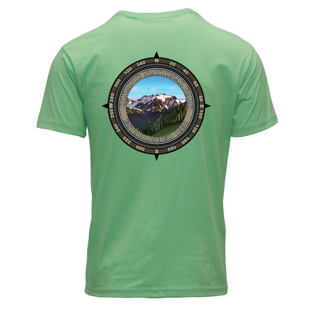 Retro Compass Olympic National Park REPREVE® T-Shirt