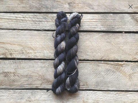 """Jet Black"" Mini Skein"