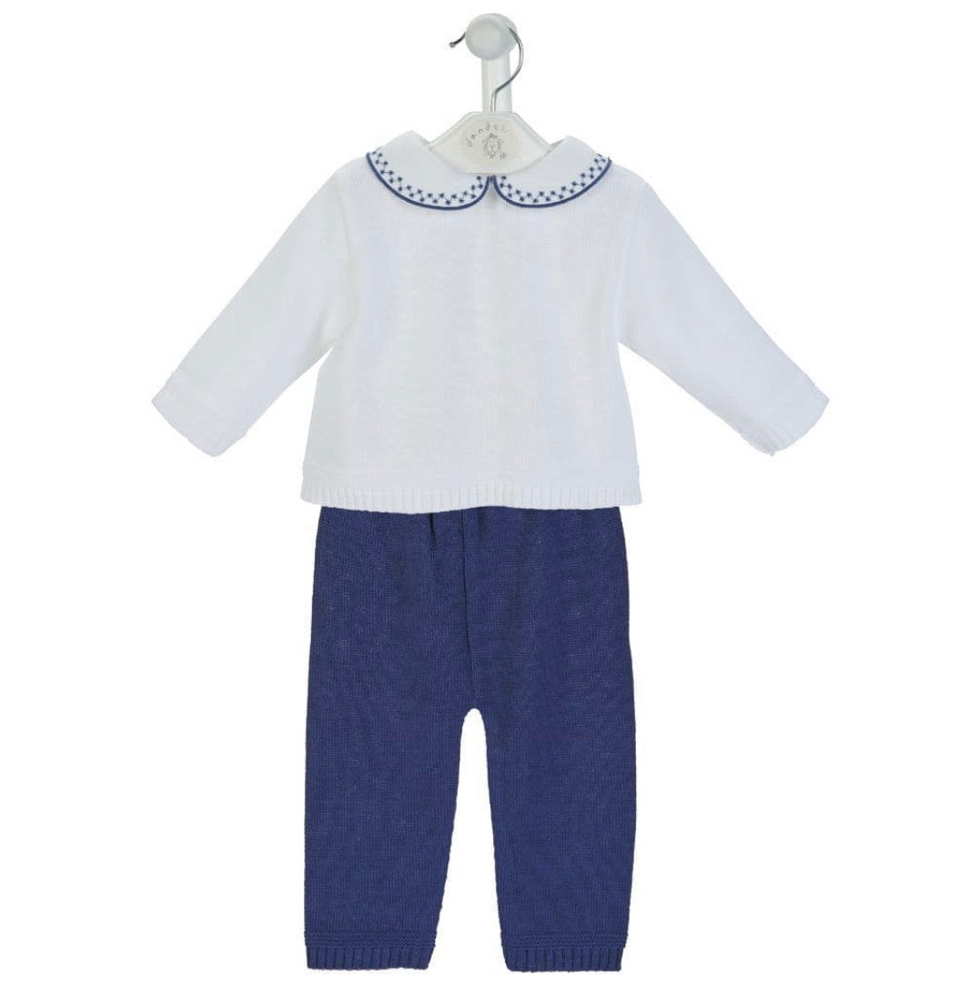 A3866 Boys knitted Trouser & Top (0-18M)