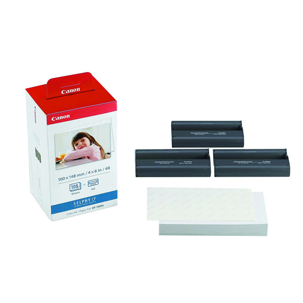 Canon KP108IN Ink & Paper set Postcard Size - 108 Prints - Gadgets Namibia Solutions Online Store