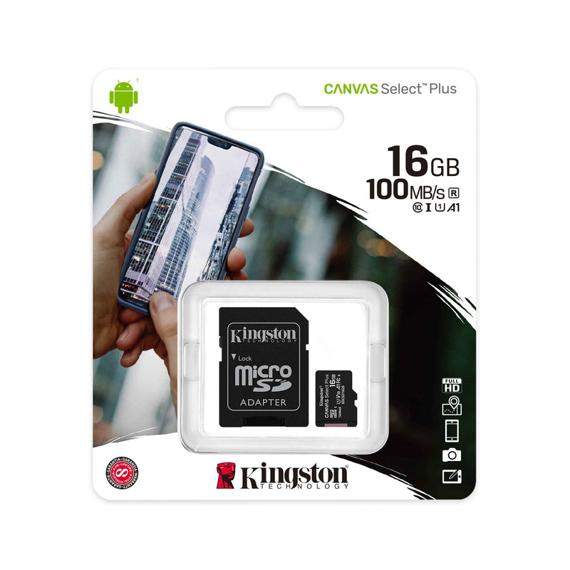 KINGSTON 16GB MICRO SD CANVAS SELECT 100MB/S - Gadgets Namibia Solutions Online Store
