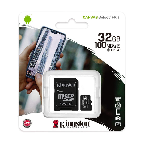 KINGSTON 32GB MICRO SD CANVAS SELECT 100MB/S - Gadgets Namibia Solutions Online Store