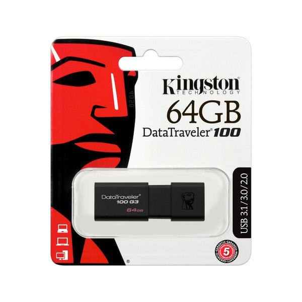 KINGSTON 64GB USB 3.0 DATATRAVELER 100 G3 - Gadgets Namibia Solutions Online Store