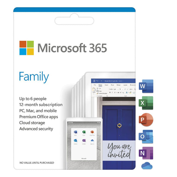 Microsoft 365 Family English Subscr 1YR Africa Only Medialess P6 -Microsoft - Computer Accessories. Gadgets Namibia Solutions Online
