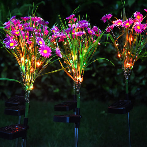 Solar Powered  Daisy Flower Light