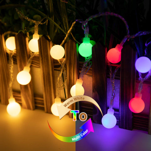 100 LED Globe Ball String Lights
