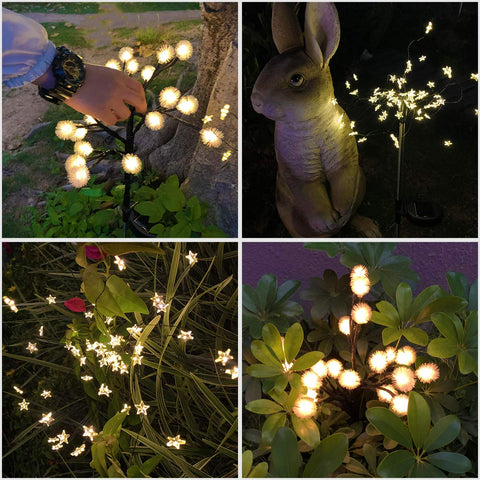 Decor Solar Flower Lights