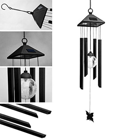 Solar Powered Metal Wind Chime
