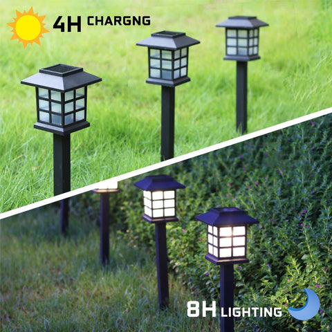 Solar Powered Pane Garden Light