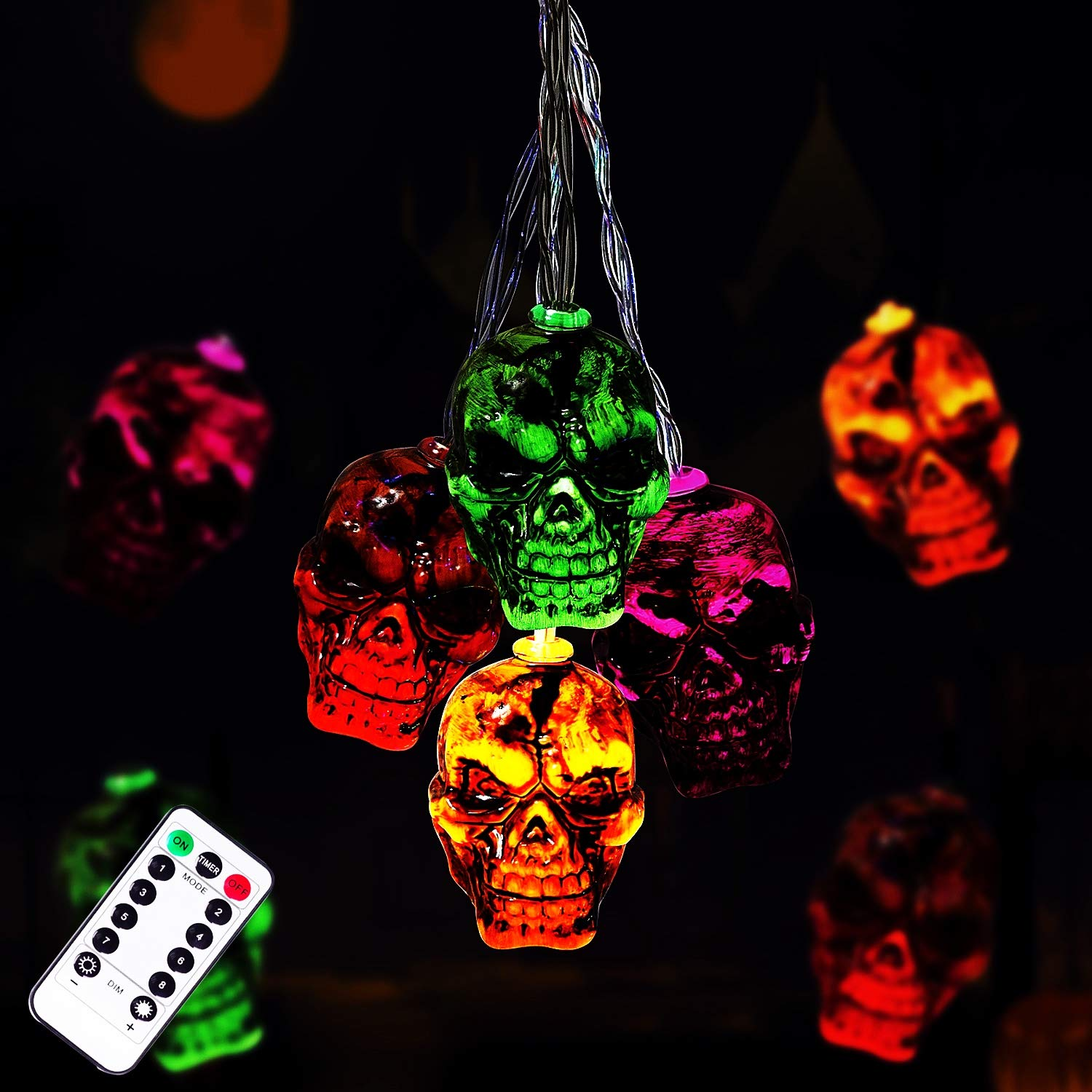 30LEDs Spooky Skull String Light