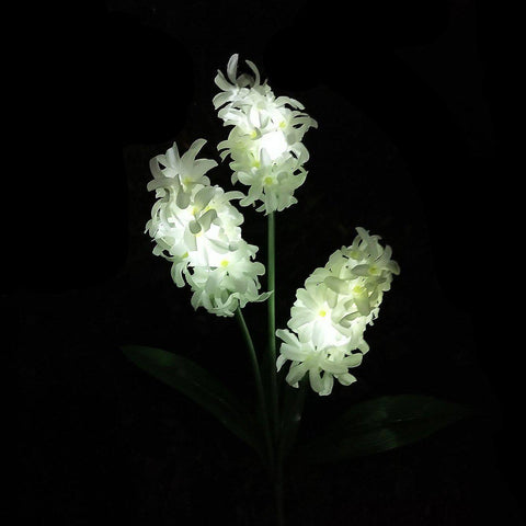 Solar Powered Hyacinth Flower Light