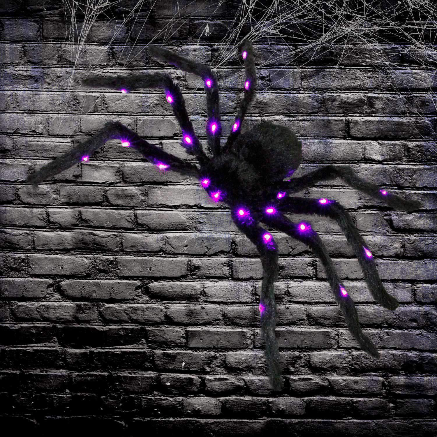 Led Black Hairy Spider Light