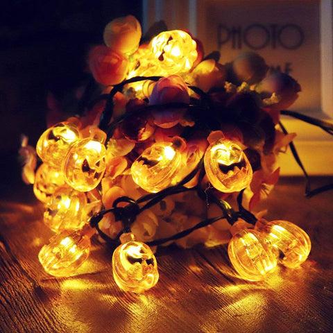 Solar 3D Little Pumpkins String Lights