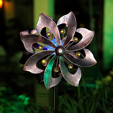 Copper Petals Wind Spinner