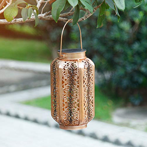 Solar Carved Hollow Garden Light
