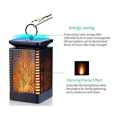 Solar Powered Dancing Flame Light