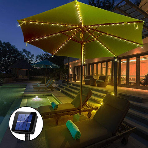 Solar-Powered Patio Umbrella Light