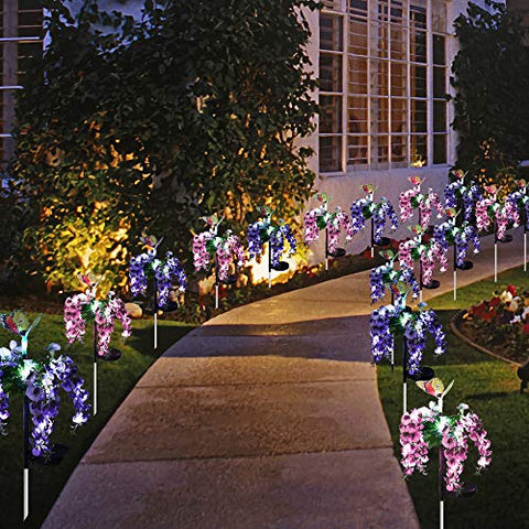 Solar-Powered Butterfly Flower Light
