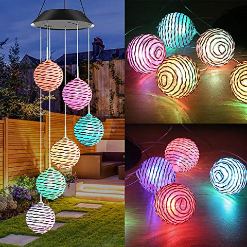 Solar- Powered Spiral Spinner Light