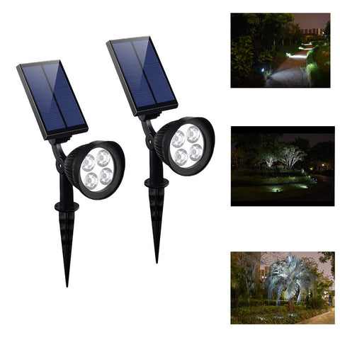 Solar Powered Adjustable Wall Light ( 2 PCS )
