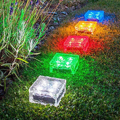 Solar Powered Brick Shape Path Light