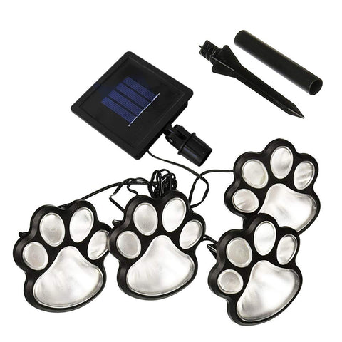 LED Paw Print Solar Light