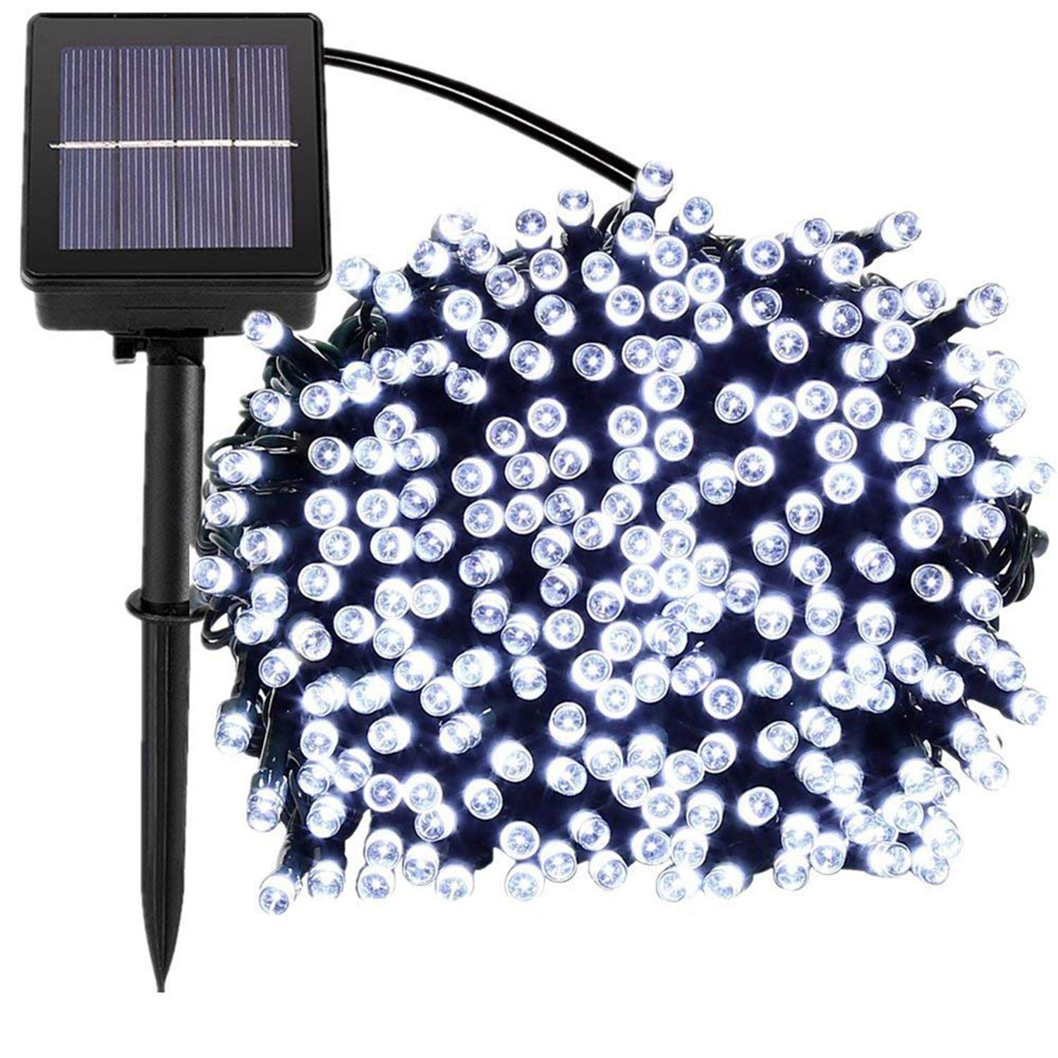 100 LED Solar Powered String Fairy Lights
