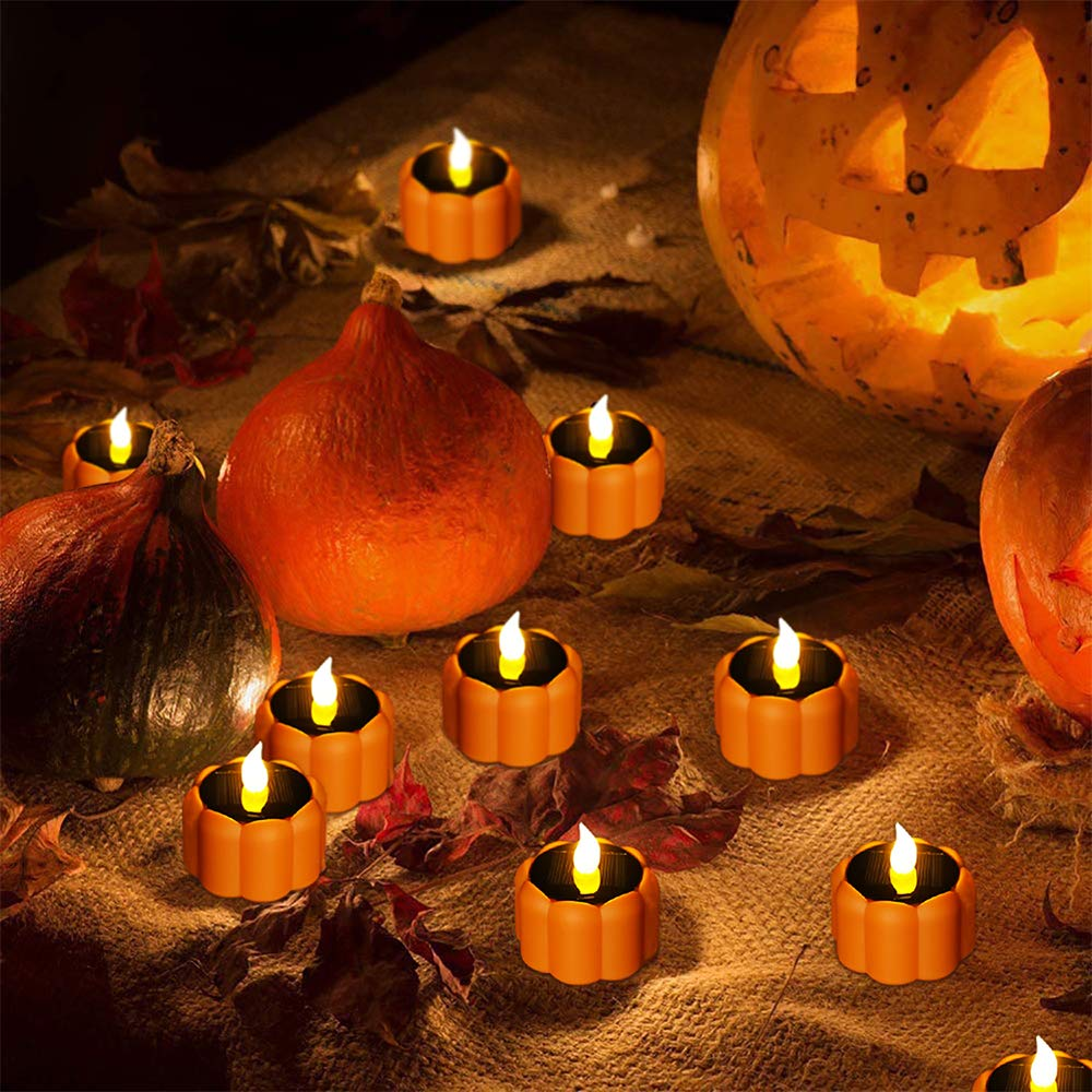 Solar Pumpkin Candles Lights