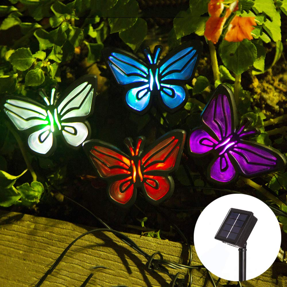 Solar-Powered Butterfly Print Light
