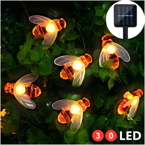 Solar-Powered LED Honeybee Light