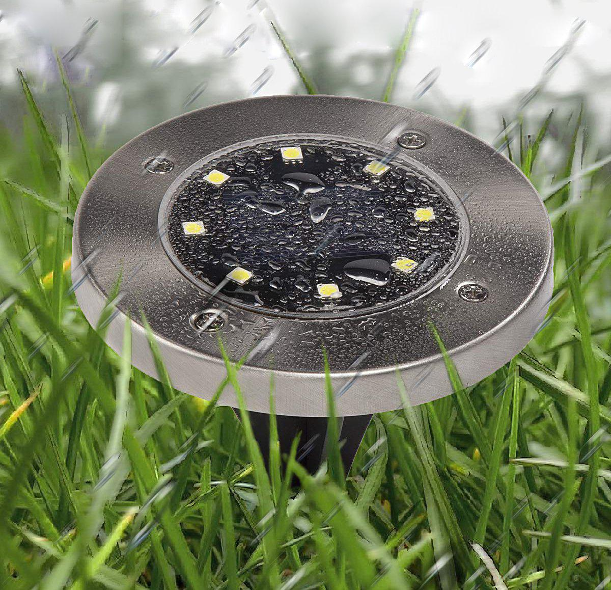 2 Pcs Solar-Powered LED Ground Light