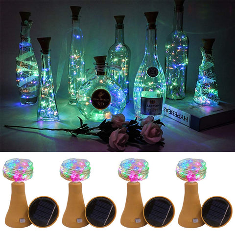 Solar Decem Wine Bottle Lights - 6 Pcs