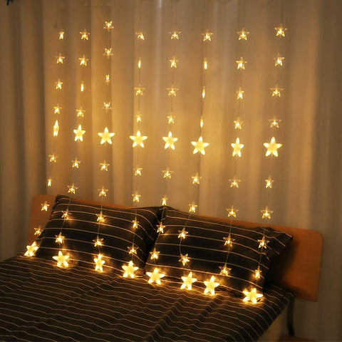 144 Led Christmas Star Decor String Lights
