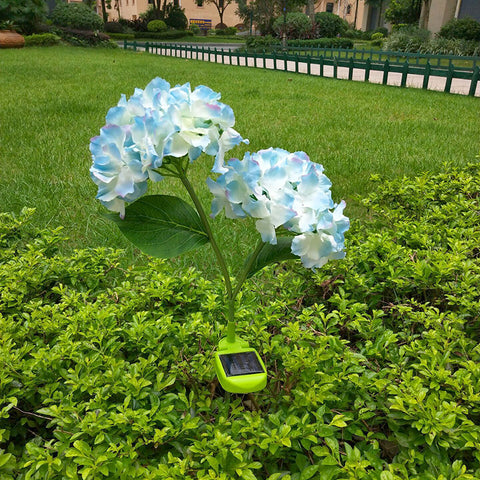Solar-Powered Hydrangea Stake Light