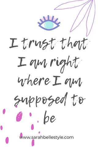 trust affirmation for positive mindset