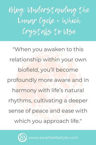 understanding the lunar cycle and which crystals to use