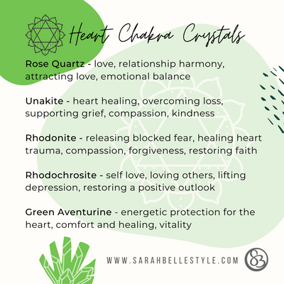 top five crystals for heart chakra balance
