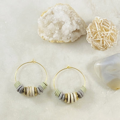 Handmade hoop earrings by Sarah Belle