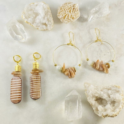 Handmade earrings with warming energy by Sarah Belle