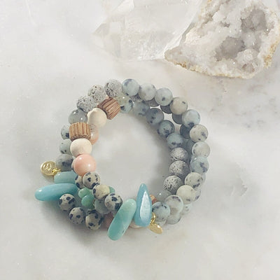 Aligned Stacking Bracelet (Diffuser) for Chakra Balancing and Meditation