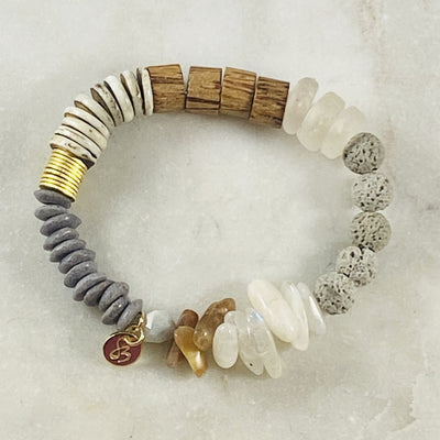 Healing crystal energy for balance stacking bracelet